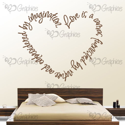 Love Quotes Vinyl Wall Art : Love is a canvas heart wall art quote bgraphics