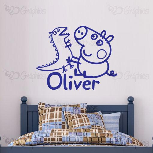Amazing Personalised George Pig Kids Wall Art